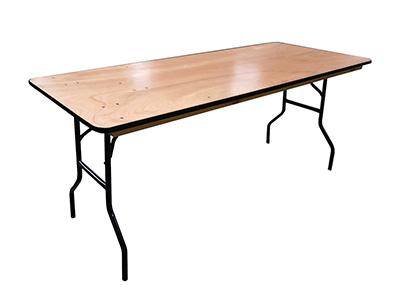 Photo de Table pliante rectangulaire en bois