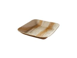 Assiette palmier carrée 170x170 mm vaisselle jetable
