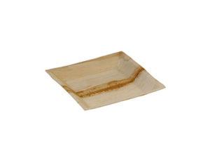 Assiette palmier carrée 180x180 mm vaisselle jetable