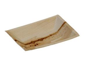 Assiette palmier rectangulaire 120x170 mm vaisselle jetable