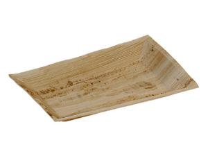 Assiette palmier rectangulaire 170x250 mm vaisselle jetable