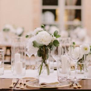Décoration florale centre de table mariage sur Lyon et dans le Beaujolais