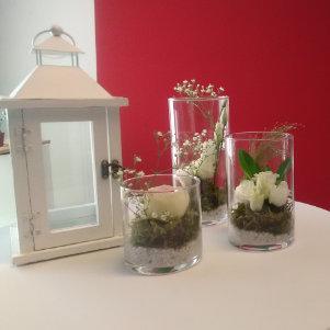 Décoration florale fleurs fraiches pour mariage sur Lyon et dans le Beaujolais