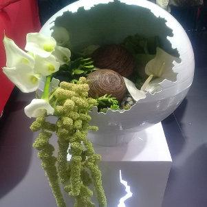 Décoration florale pour Lancement de produit