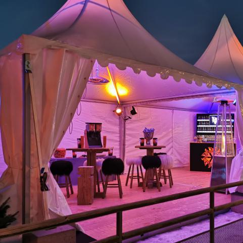 Image de Pagode et chauffage de location pour événement à Lyon et dans le Beaujolais Loc'dunum