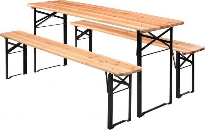 Photo de Table brasserie avec bancs