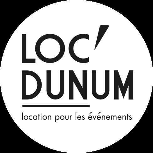 Logo Loc'dunum - location de chapiteau, mobilier et vaisselle sur Lyon et le Beaujolais