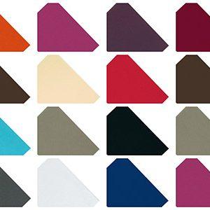 Serviettes jetables molletonnés à double point plusieurs coloris